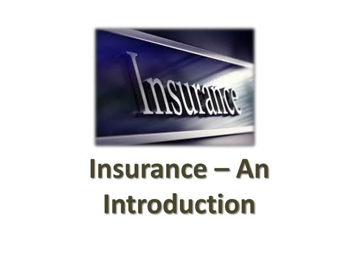 insurance an introduction n.