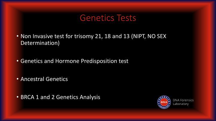 Genetics Tests