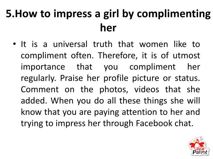 5 ways to impress a girl