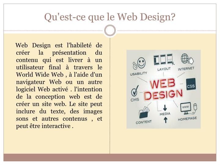 Qu est ce que le web design