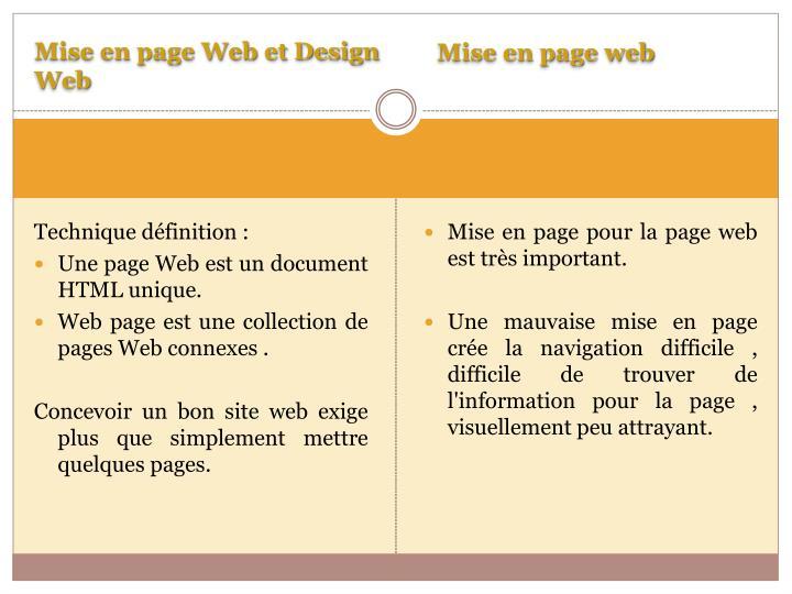 Mise en page Web et Design Web