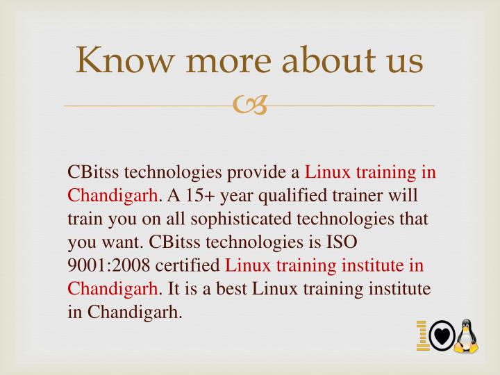 Know more about us