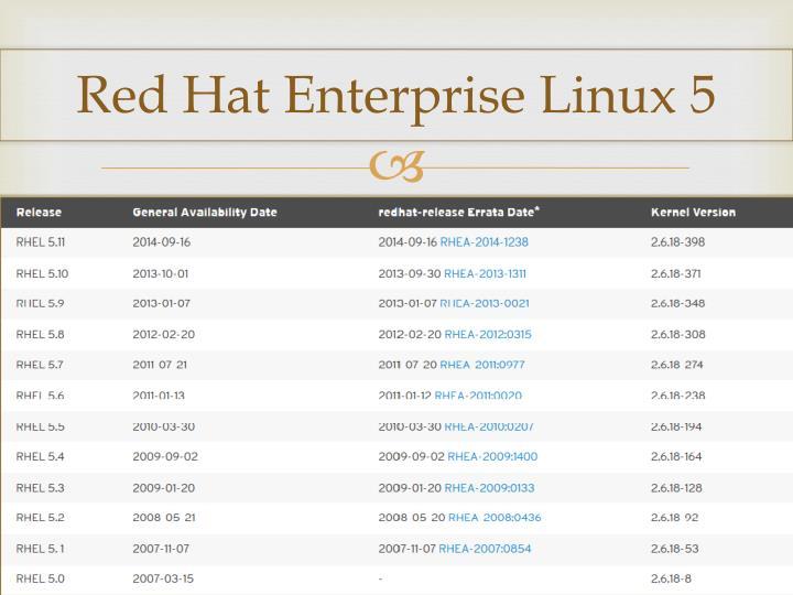 Red Hat Enterprise Linux 5