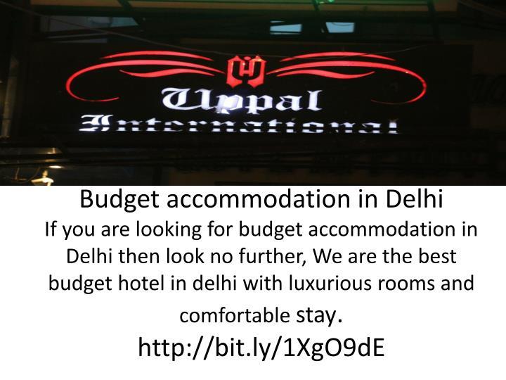 Budget accommodation in Delhi