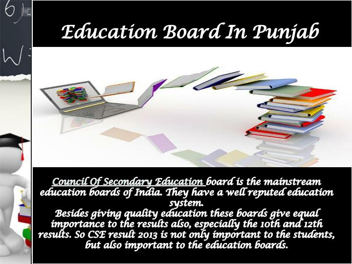 Education board in punjab council of secondary education 7309994