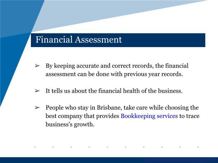 Financial Assessment