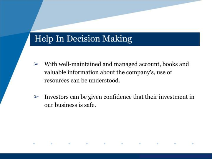 Help In Decision Making