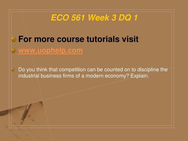 eco 561 wk6 final business proposal Final business proposal paper week 6 final proposal eco 561 resource: business proposal and peer review feedback update your week four business proposal recommendations using the feedback provided by your peers and.