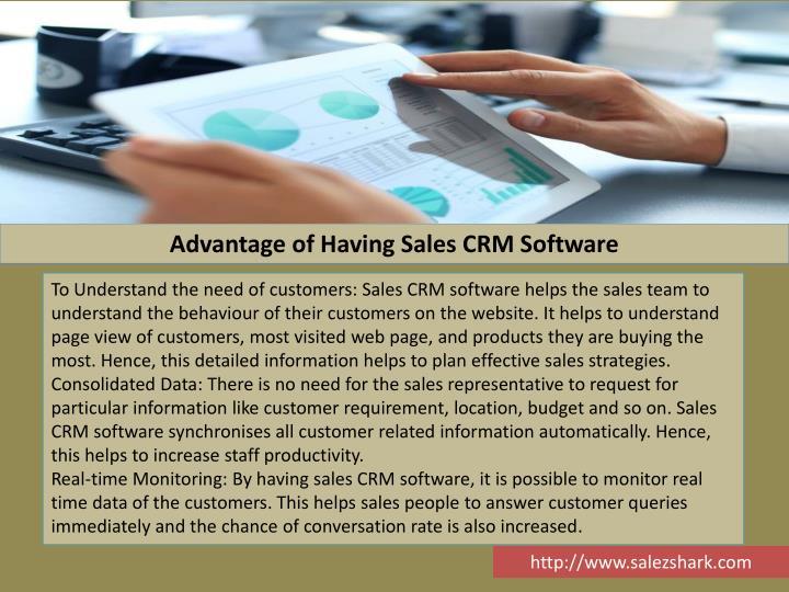 Advantage of Having Sales CRM Software