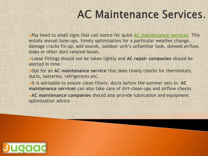 Ac m aintenance services