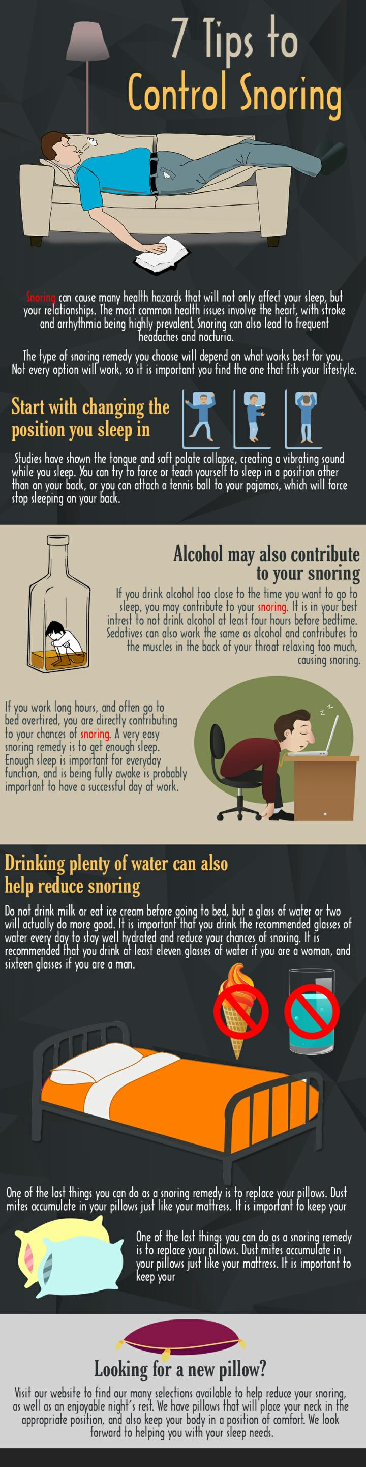 7 tips to control snoring
