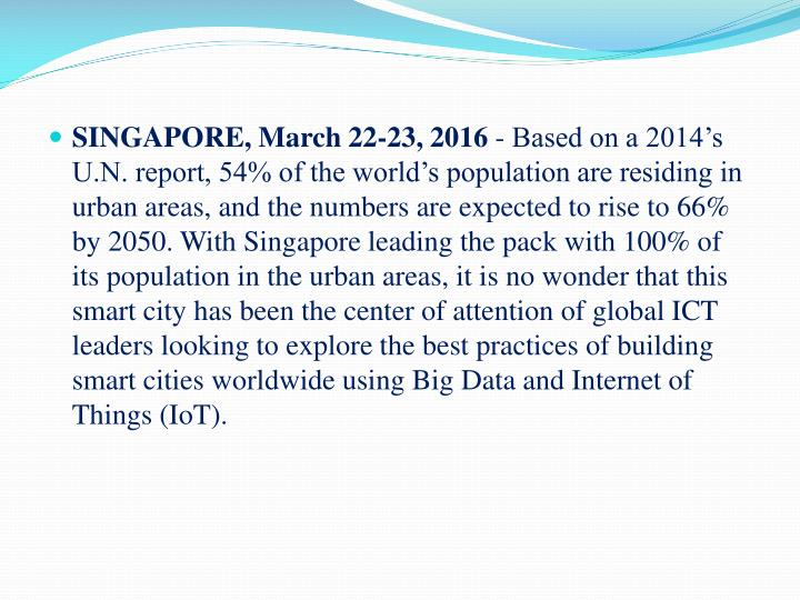 SINGAPORE, March 22-23, 2016