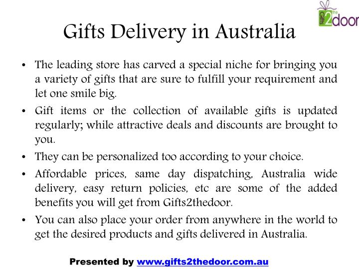 Gifts Delivery in Australia