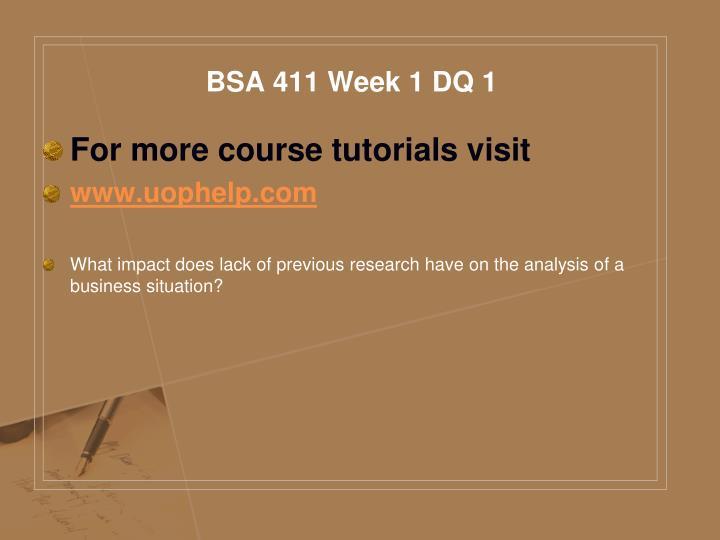 Bsa 411 week 1 dq 1