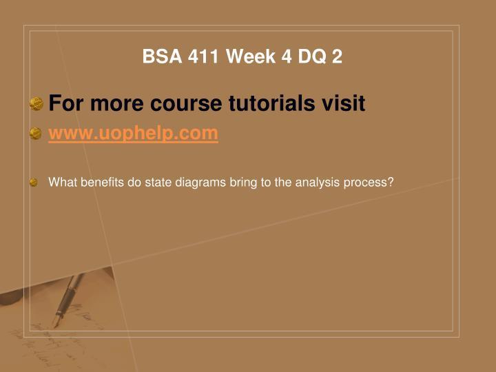 BSA 411 Week 4 DQ 2