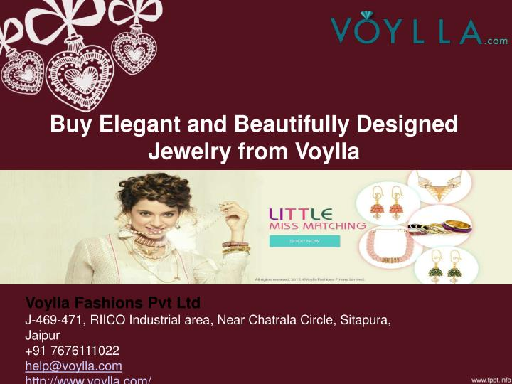 buy elegant and beautifully designed jewelry from voylla n.