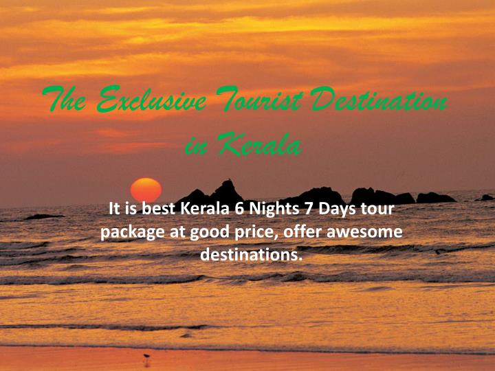 the exclusive tourist destination in kerala n.