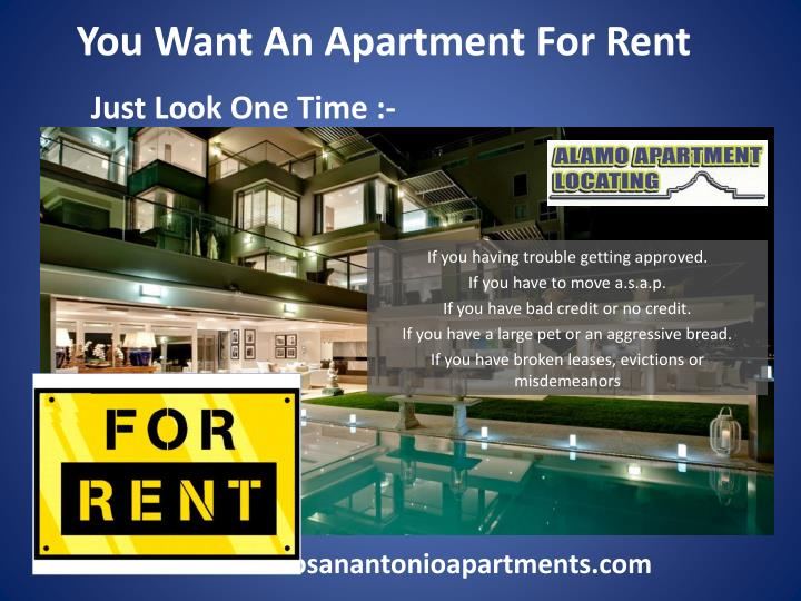 Ppt You Want An Apartment For Rent Powerpoint