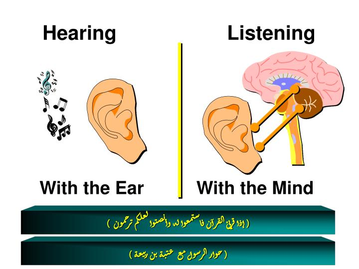hearing and listening Amen my friend, i love it how many times have i heard but not listened and i so know when the kids are hearing but not listening and i love the humour.