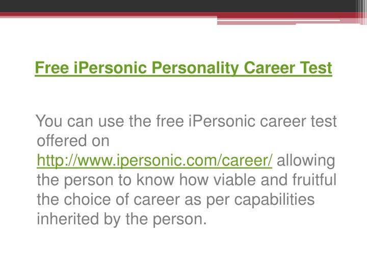 free online career assessment test