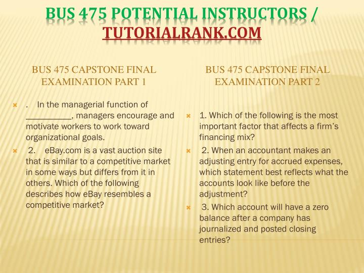 Bus 475 potential instructors tutorialrank com2