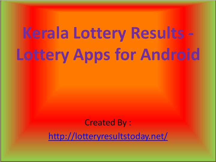 PPT - Kerala lotteries result PowerPoint Presentation - ID:7312474