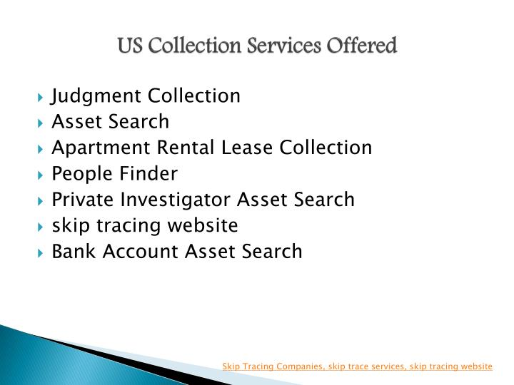 Us collection services offered