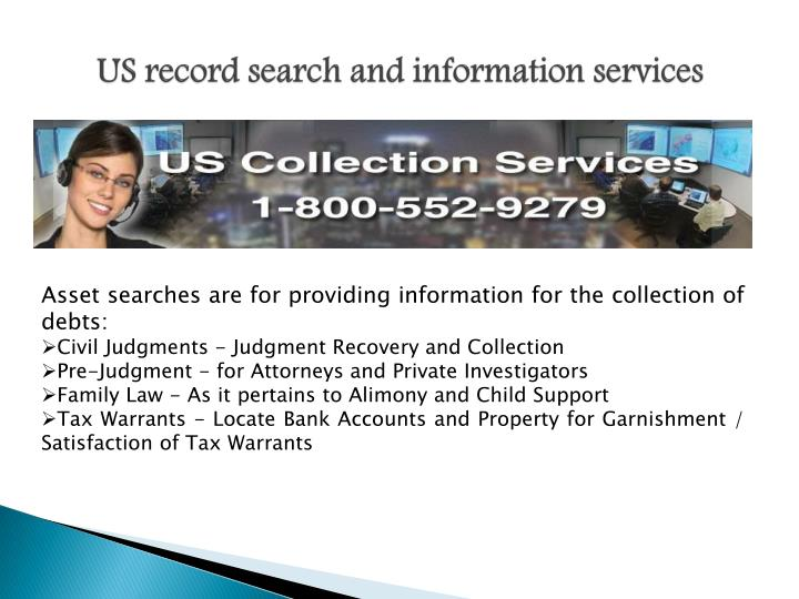 US record search and information services