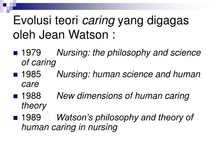 theory nursing and jean watson