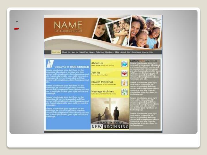 Website builder for churches churchsquare com