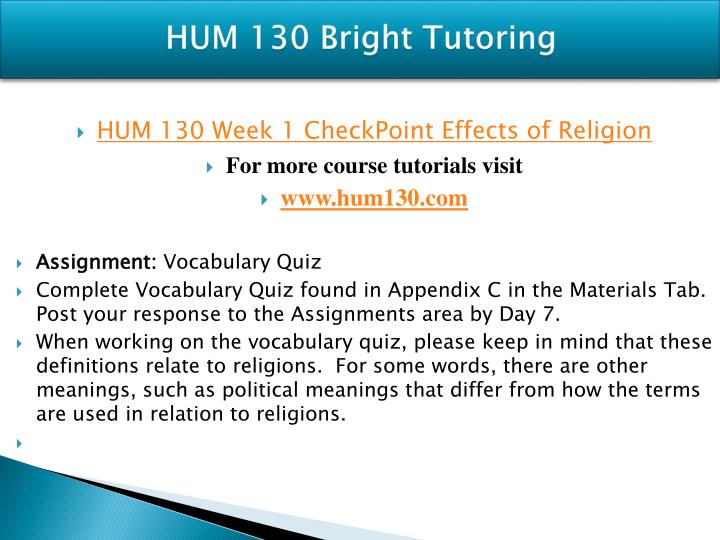 hum 130 appendix d essay example Complete course answers for uop/axia hum 130 are included with perfect scores: week 1 effects of religion week 1 appendix c week 2 appendix d week 2 dq 1.