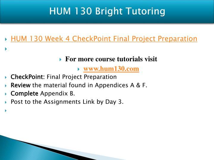 hum 130 final