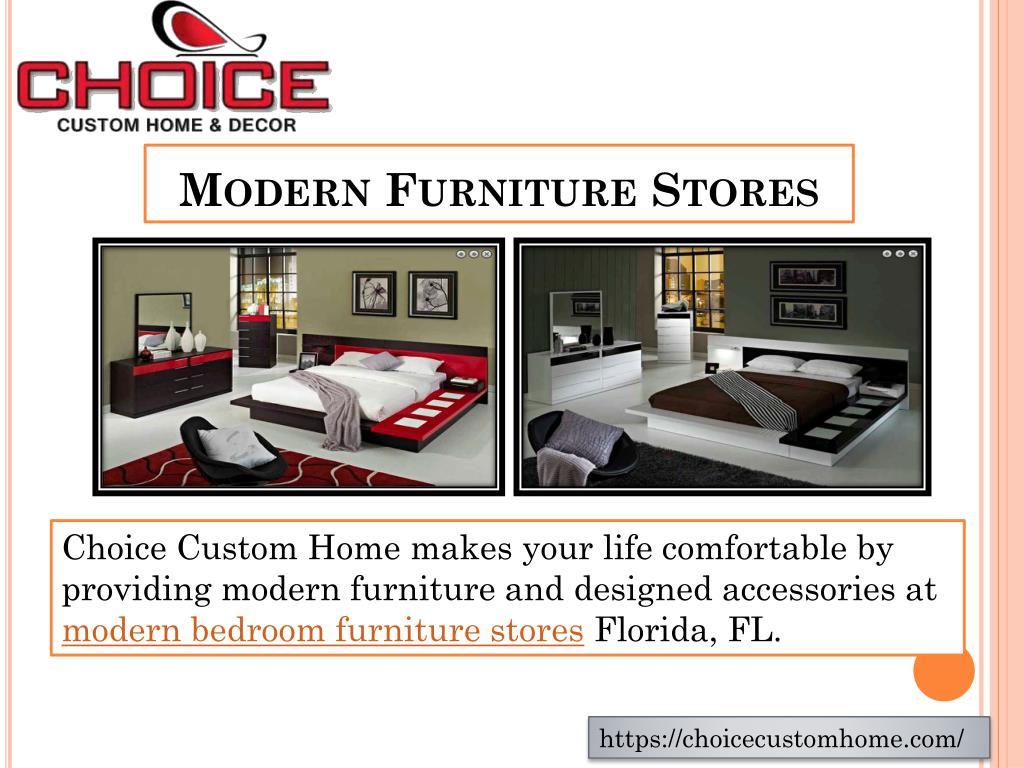 Modern furniture stores powerpoint ppt presentation