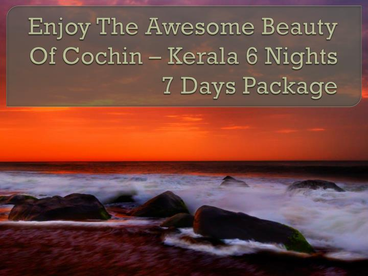 enjoy the awesome beauty of cochin kerala 6 nights 7 days package n.