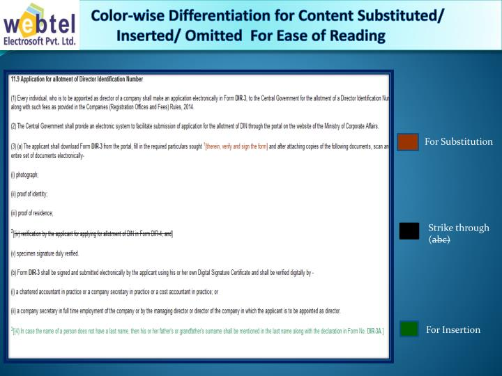 Color-wise Differentiation for Content Substituted/