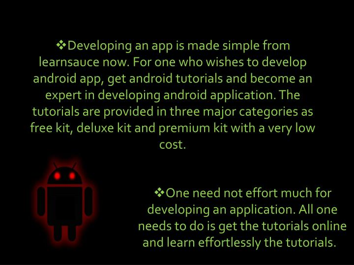 Developing an app is made simple from