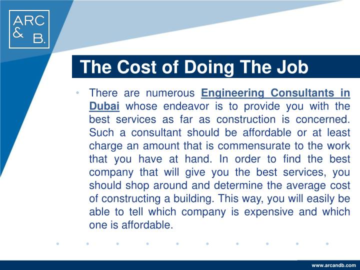 The Cost of Doing The Job