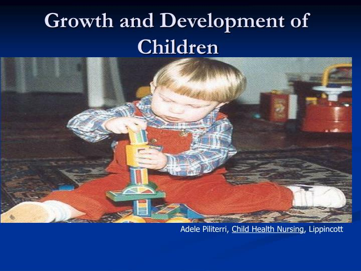 growth and development of children n.