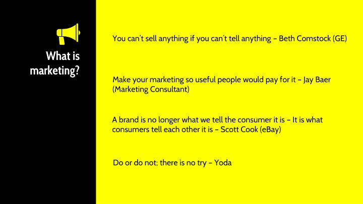 You can't sell anything if you can't tell anything – Beth Comstock (GE)