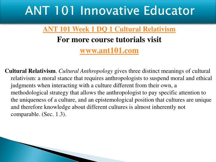 Ant 101 innovative educator1