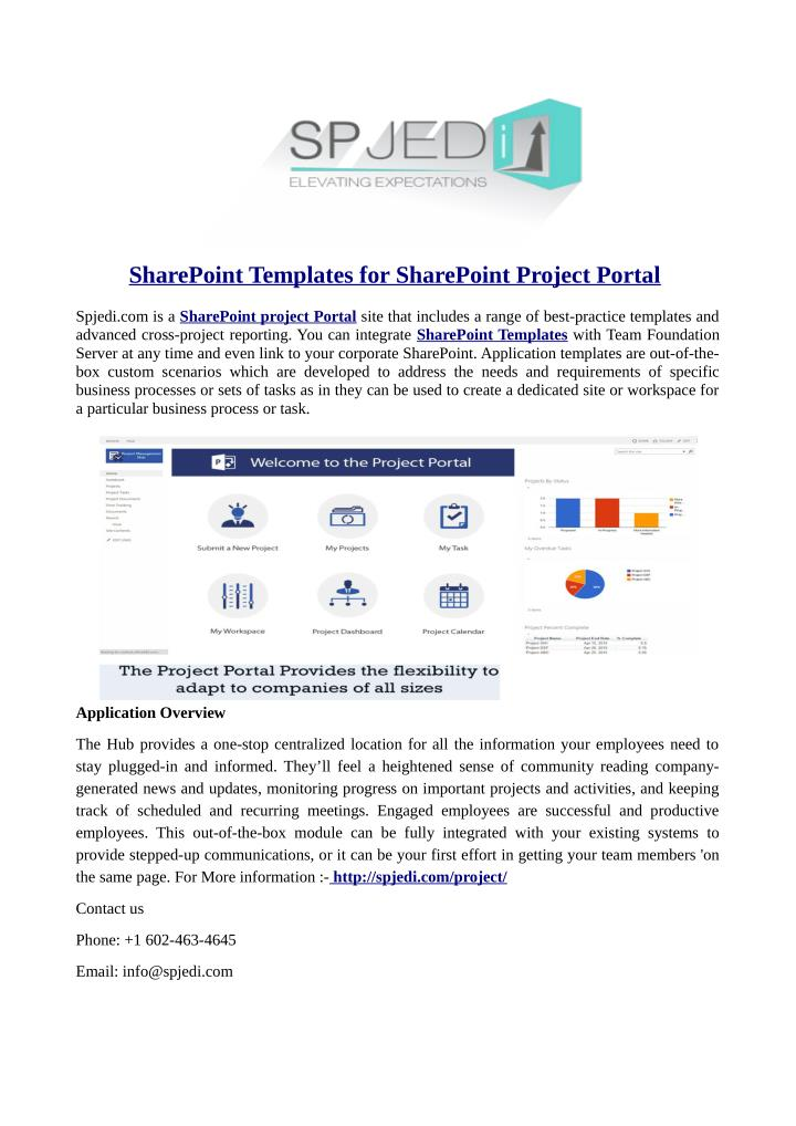 SharePoint Templates for SharePoint Project Portal