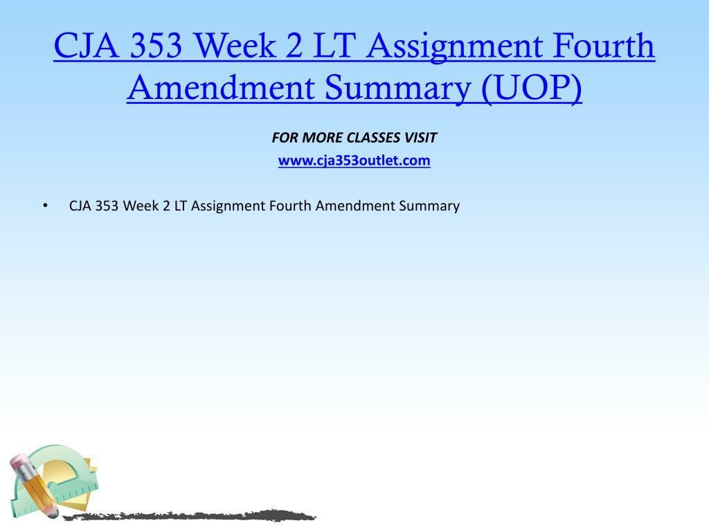 PPT - CJA 353 OUTLET Real Education Real Results