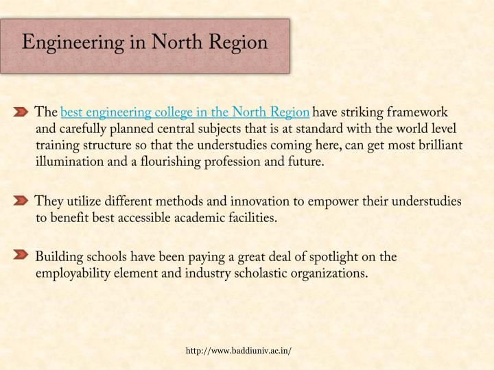 Engineering in north region