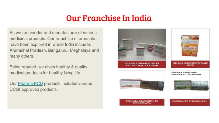 Our Franchise In India
