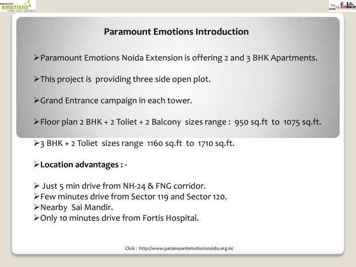 Paramount Emotions Introduction