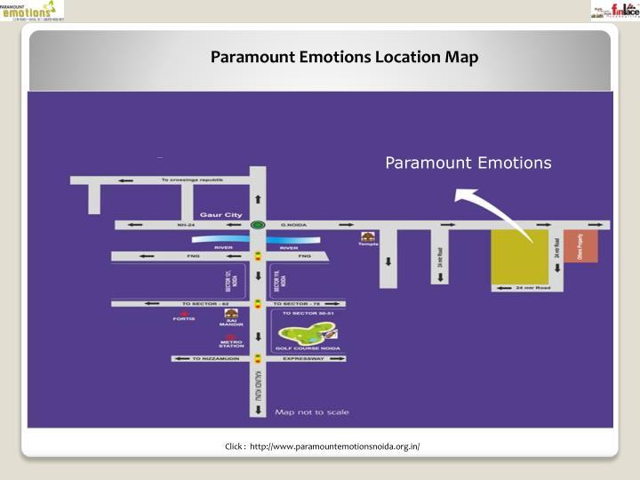 Paramount Emotions Location Map
