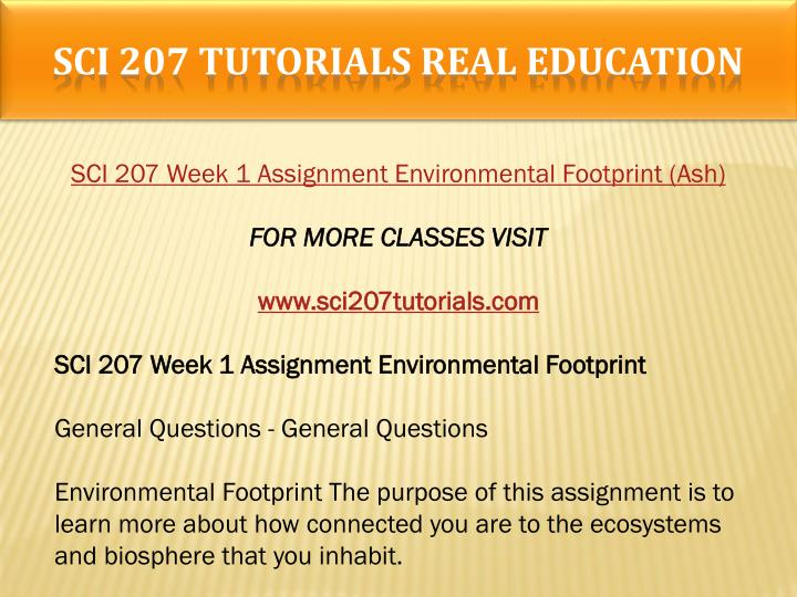 Sci 207 tutorials real education1
