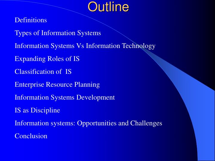 information system conclusion
