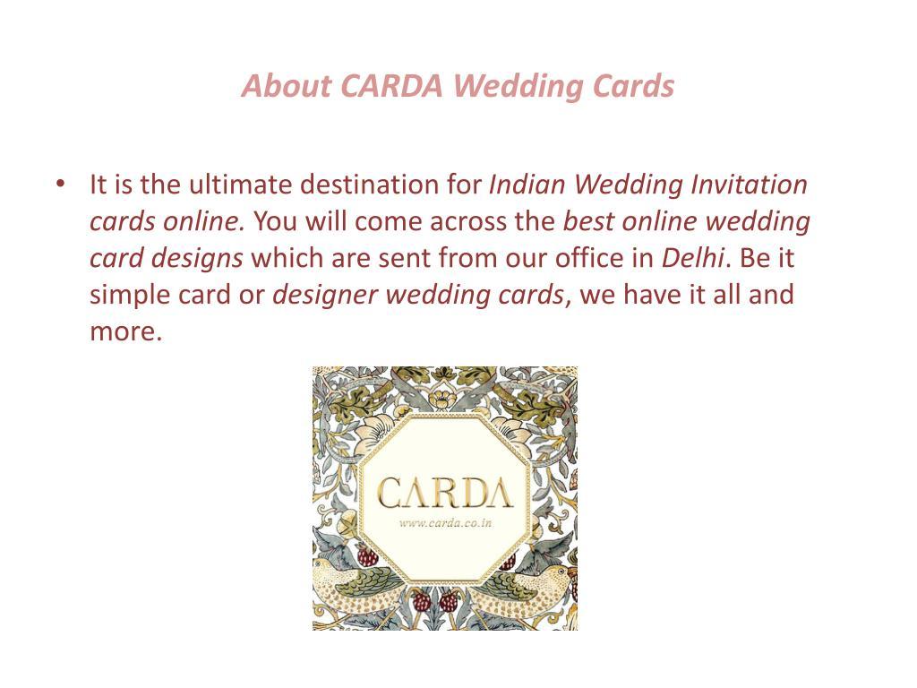 Ppt Online Wedding Cards Design Powerpoint Presentation