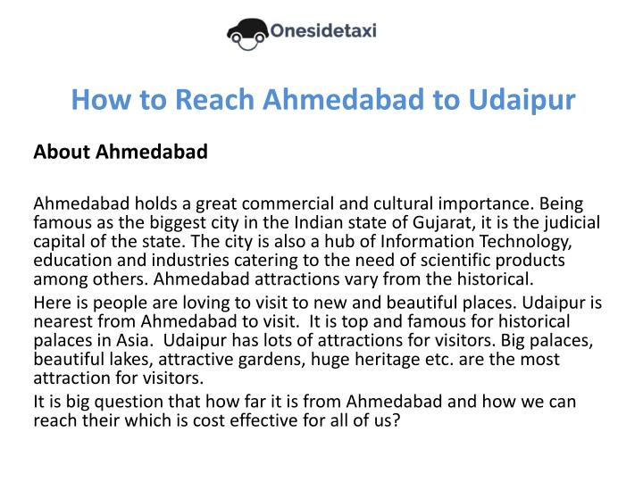 how to reach ahmedabad to udaipur n.